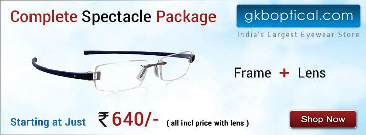 24137d0429f New  Spectacle Package  Offer Launched At GKBOptical.com Only At Rs. 640