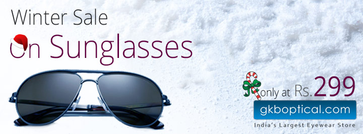 Winter Sale On Sunglasses Only At GKBOptical